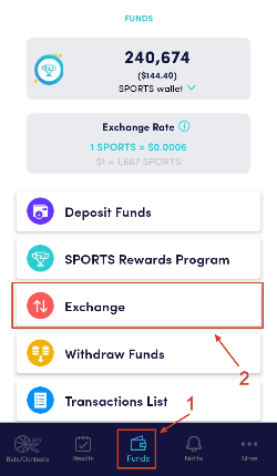 ZenSports exchange Step 1